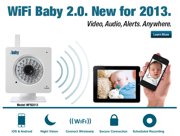 wifi baby 2 0 new for 2013 iphone ipad android baby monitor wifi baby monitor nanny cam. Black Bedroom Furniture Sets. Home Design Ideas