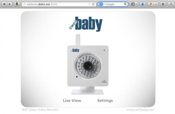WiFi Baby Sign On Screen