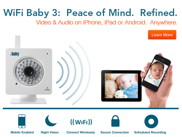WiFi Baby 3: iPhone iPad Android Monitor & Nanny Cam | WiFi